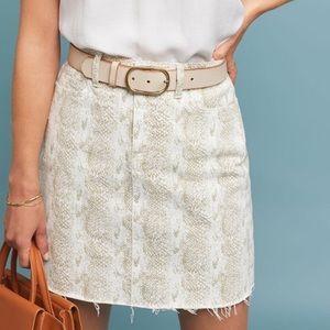 New Paige Aideen denim mini skirt Sonoran snake 28